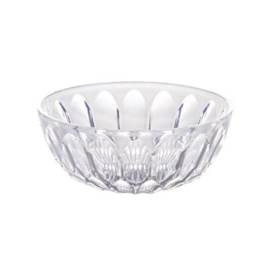 CLEAR Crystal Cut Dessert Bowl
