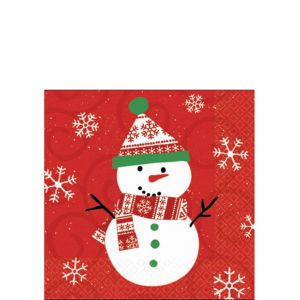 Very Merry Snowman Beverage Napkins 30ct