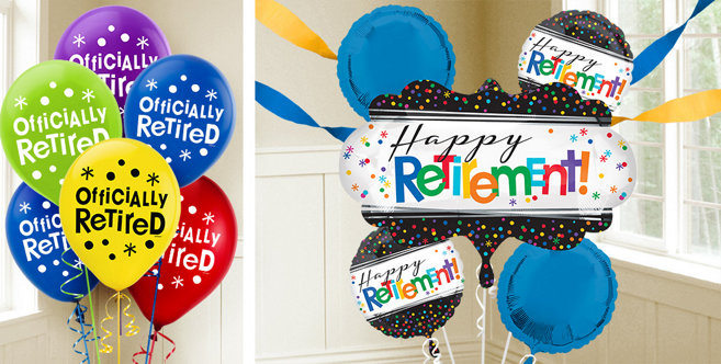 Retirement balloons party city