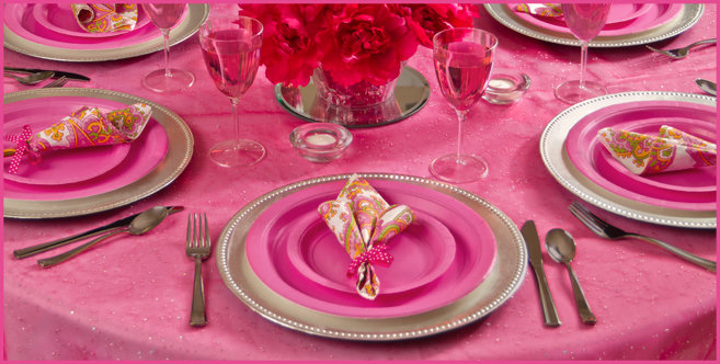 Solid Bright Pink Tableware #4