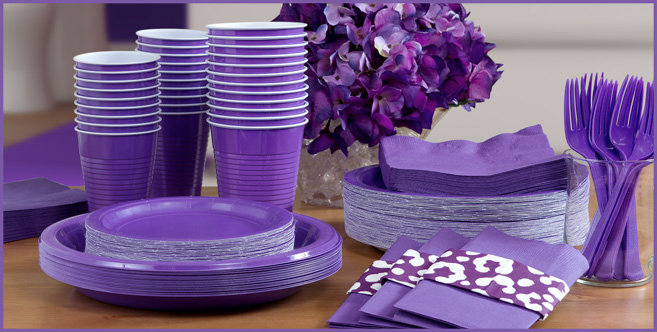 Solid Purple Tableware #3