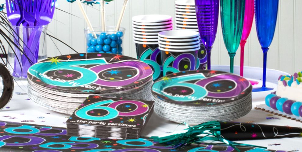 The party continues 60th birthday party supplies party for 60th birthday decoration ideas