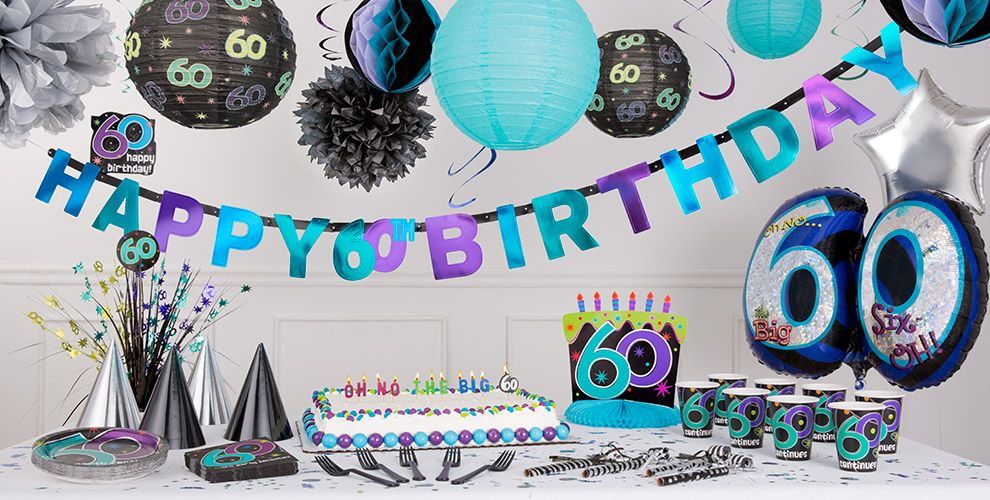 The party continues 60th birthday party supplies party city for 60th anniversary party decoration ideas