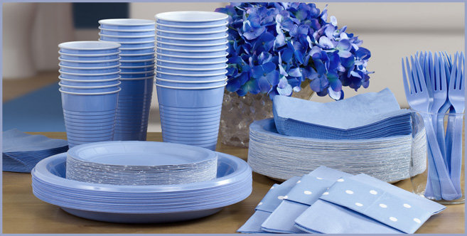 Solid Pastel Blue Tableware #3
