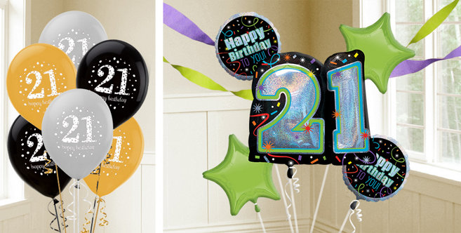 21st birthday balloons party city canada for 21st birthday decoration