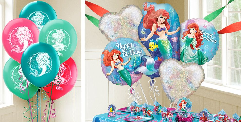 Little mermaid ariel balloons party city for Ariel decoration party