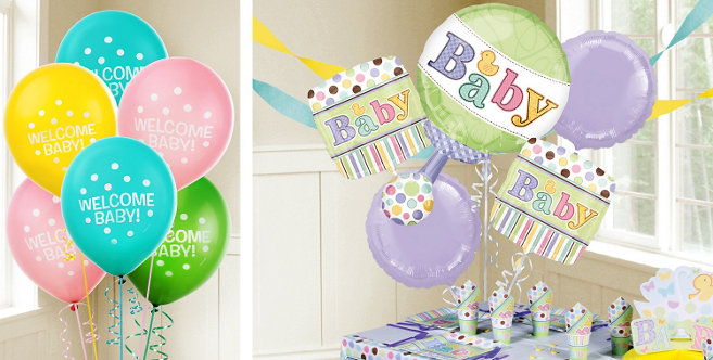 tiny bundle baby shower balloons party city