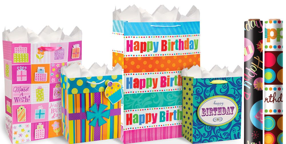Happy birthday gift bags gift wrap party city negle Image collections