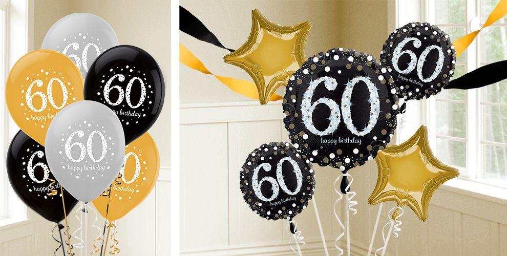 60th Birthday Color Ideas: 60th Birthday Balloons