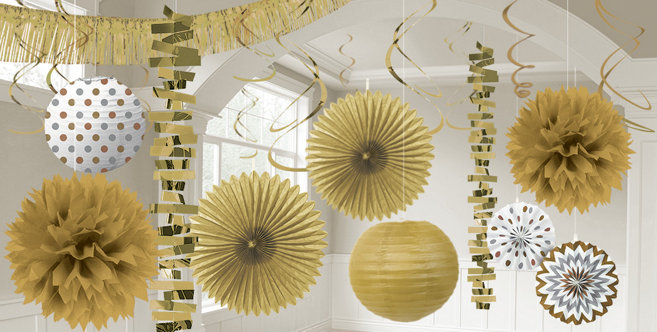 gold decorations gold balloons banners confetti party city - Gold Decorations