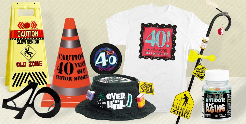 40th birthday adult gag gifts