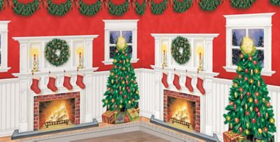 Christmas Scene Setters   Christmas Themed Vinyl Wall Decorations   Party  City Part 7