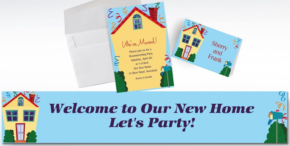 Moving Announcement - Custom Housewarming Invitations - Party City