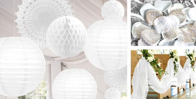 White Wedding Decorations Party City