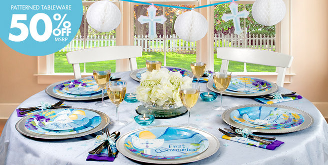 Blue First Communion Party Supplies - Party City