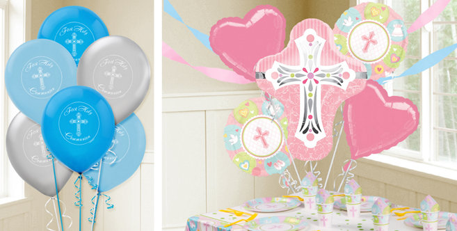 Baby shower table decorations candy table for baby shower decoration - Religious Balloons Party City