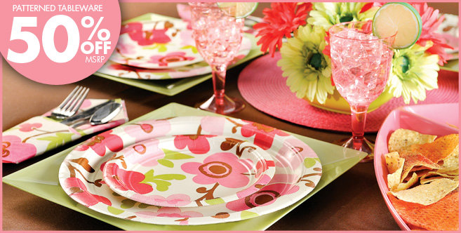 Linen Floral Party Supplies - Party City
