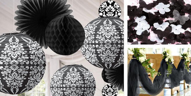black wedding decorations party city - Party City Decorations
