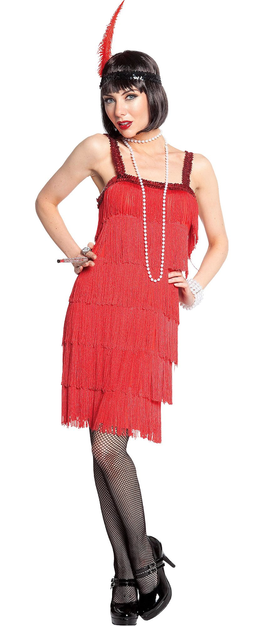 Women's Red Flapper