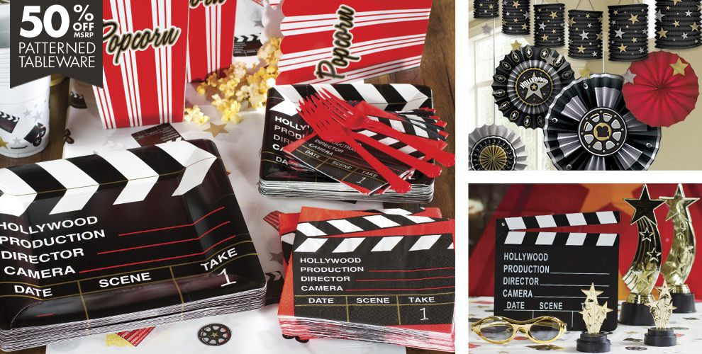 Clapboard Hollywood Movie Theme Party Supplies