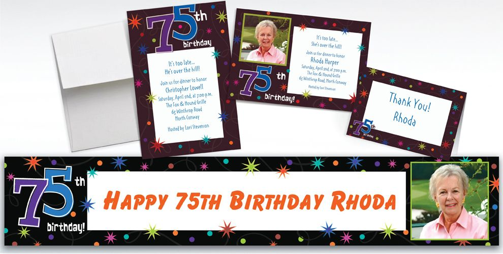 Custom The Party Continues 75th Birthday Invitations Party City – Party City Invitations Birthday