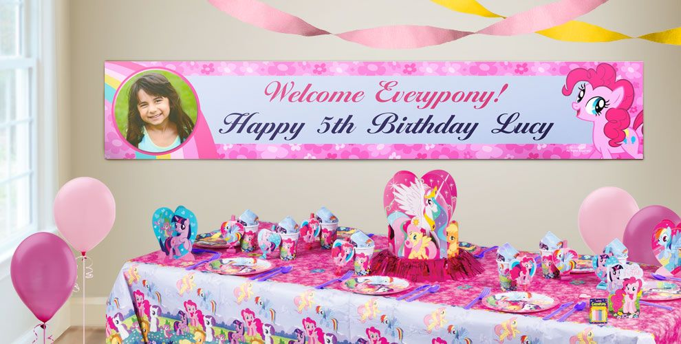 Custom My Little Pony Birthday Banners Party City – My Little Pony Personalized Birthday Invitations