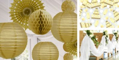 Gold Wedding Decorations Party City