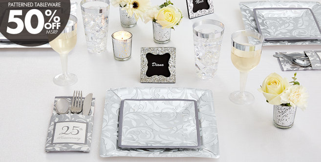Silver Wedding Party Supplies Party City