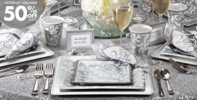 Silver 25th anniversary party supplies party city canada for 25th anniversary party decoration ideas
