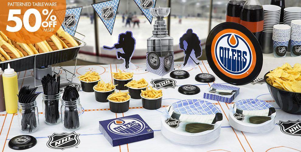 NHL Edmonton Oilers Party Supplies