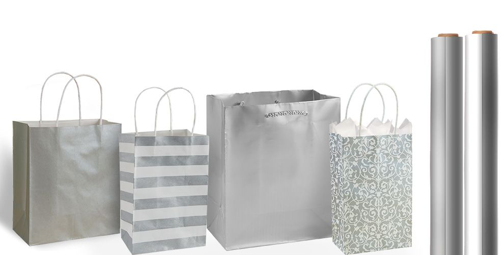 Silver Gift Bags and Wrap