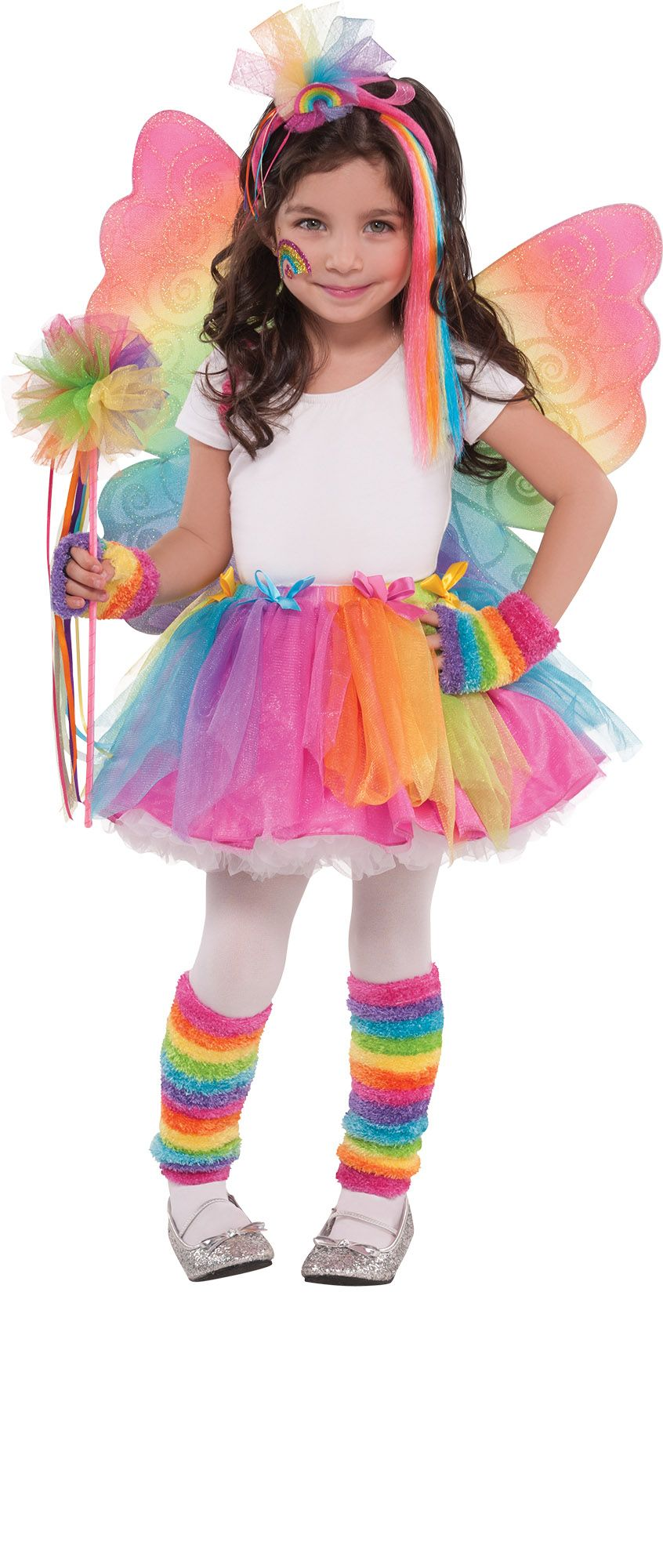 Create Your Own Girls' Rainbow Fairy Costume Accessories