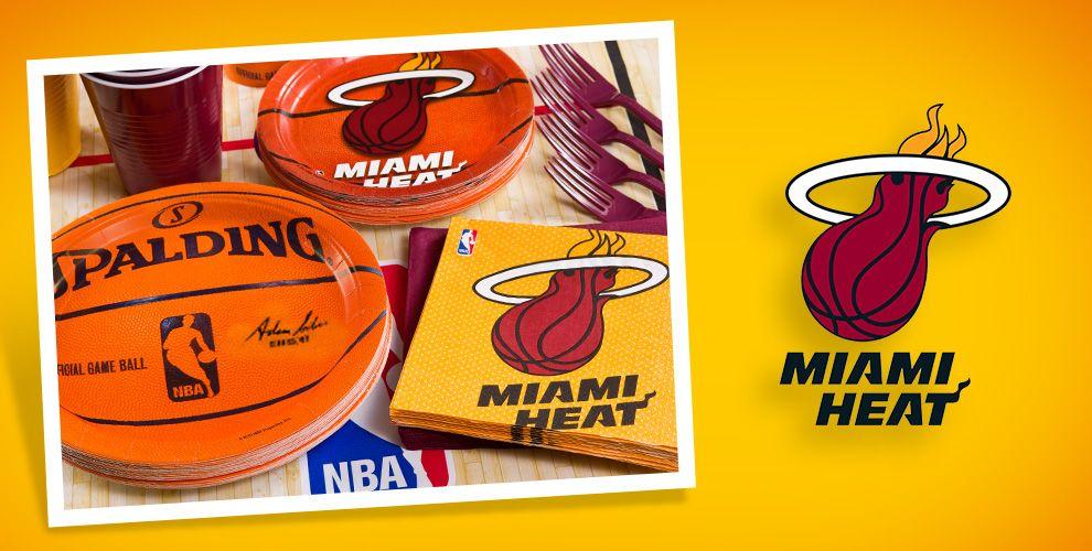 Nba Basketball Miami Heat Bedroom In: NBA Miami Heat Party Supplies