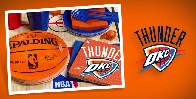 oklahoma city thunder party supplies bounce to the beat of