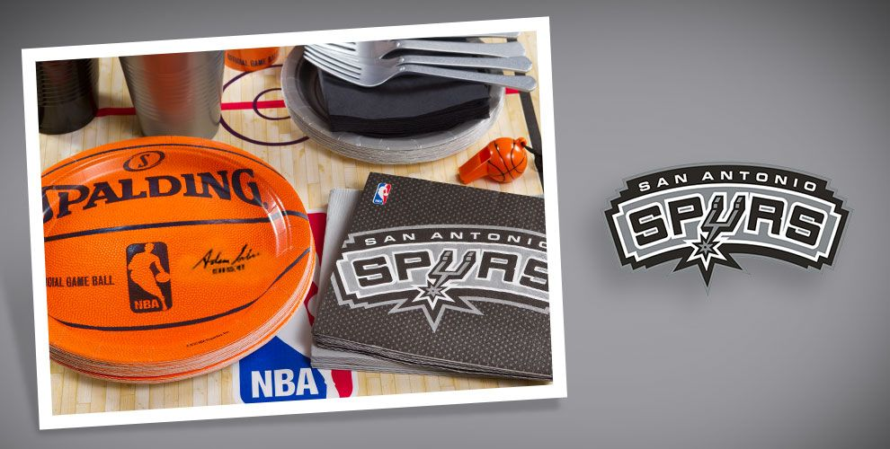 Nba san antonio spurs party supplies party city for Spurs decorations