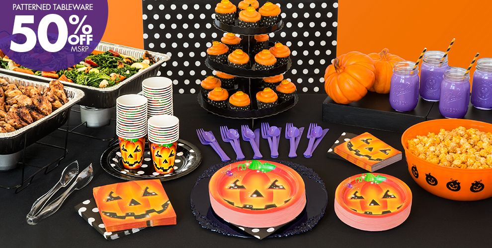 perfect pumpkin halloween party supplies party city - Halloween Party Supplies