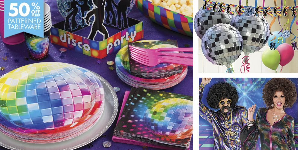 Disco '70s Theme Party Supplies