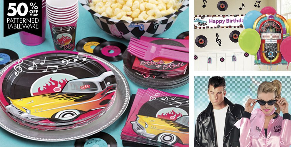 Classic '50s Theme Party Supplies