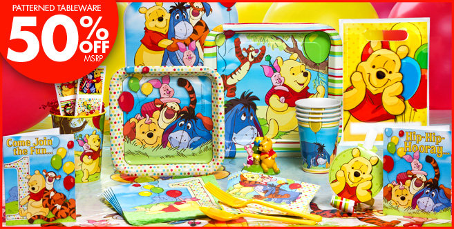 Pooh and Pals Party 1st Birthday Party Supplies - Party City