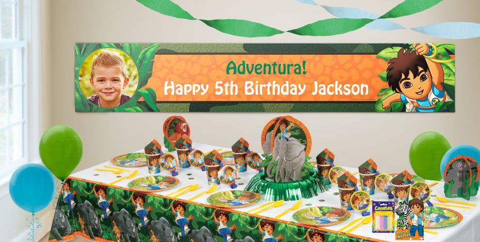 Custom Go Diego Go Birthday Banners Party City - Go diego go birthday cake