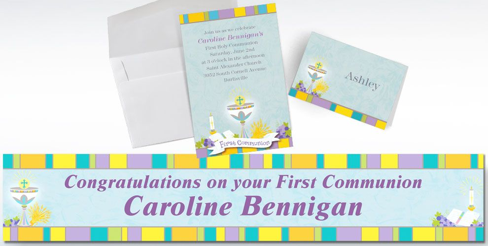 Custom First Communion Invitations & Thank You Notes - Party City