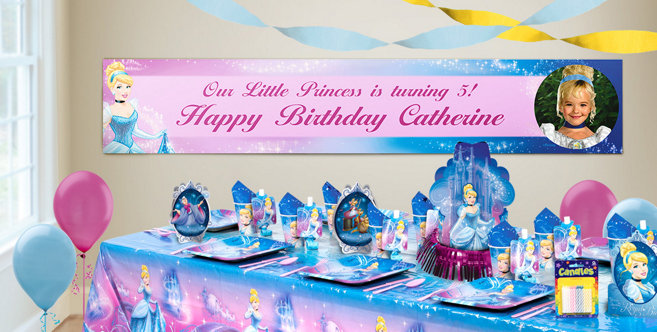 Custom Cinderella Birthday Banners Party City