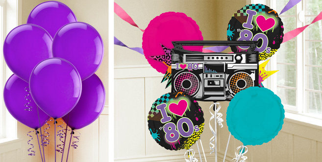 80s party balloons party city canada for 80s decoration party