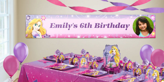 Custom Tangled Birthday Banners Party City