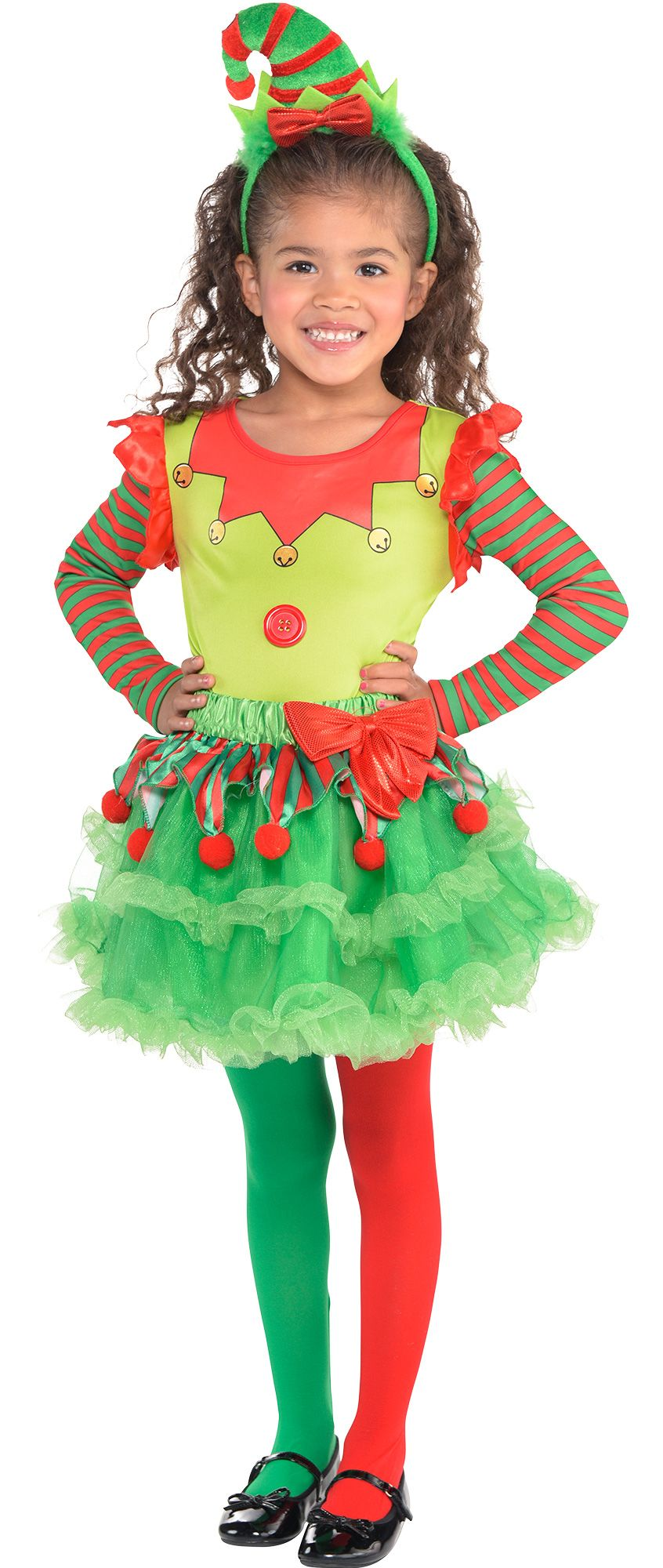 Girls' Elf Christmas Costume Accessories - Party City