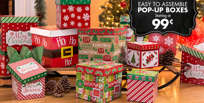 Christmas gift boxes nesting party city