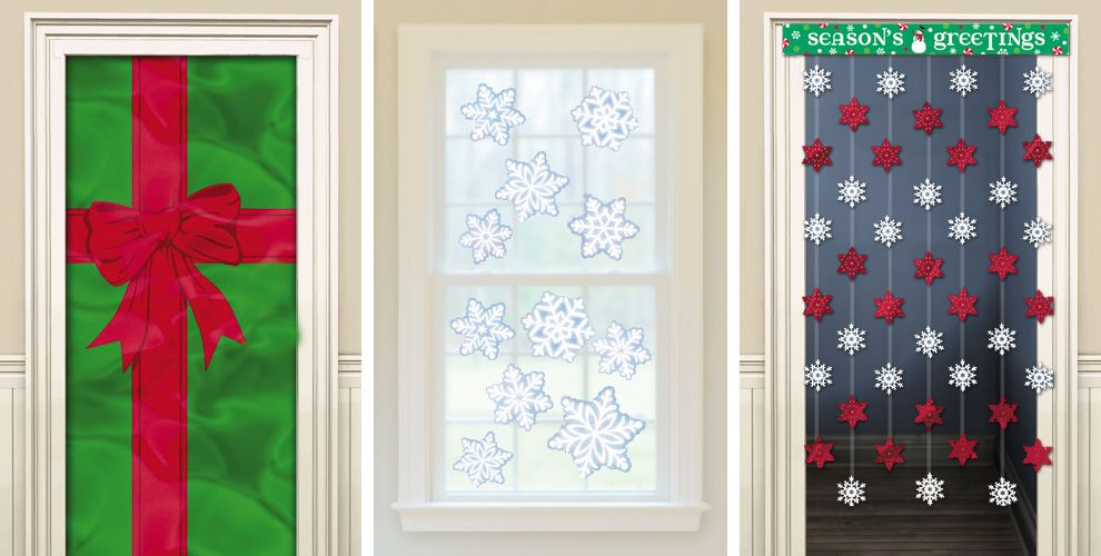 Christmas door decorations door curtains christmas for Door xmas decoration ideas