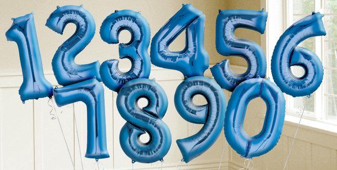 Blue Number Balloons Metallic Blue Balloons Amp Balloon