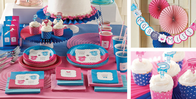Lashes Or Staches Gender Reveal Decorations