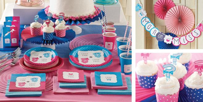 Little Man Little Miss Gender Reveal Party Supplies